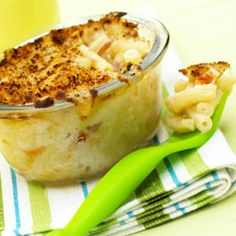 Mighty Mac and Cheese. Try this concept with Annie's m baked in custard cups + topping.