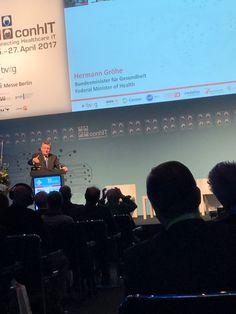#conhIT 2017 in Berlin – gespannt auf unseren #Gesundheitsminister / looking forward to #Hermann_Gröhe  Connecting Healthcare IT – http://www.conhit.de/