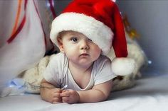 Inspiring picture baby, child, christmas, little boy. Find the picture to your taste! Baby Christmas Hat, Baby Christmas Photos, Happy Merry Christmas, Christmas Portraits, Babies First Christmas, Kids Christmas, Christmas 2016, Christmas Images, Funny Baby Pictures