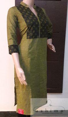 Code:1406172 - Price INR:1190/- , Ajrak Printed Cotton Kurti.