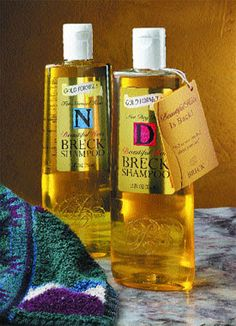 Having my Mom wash my hair with Breck Shampoo. Loved creme rinse with coconut oil, it was pink!