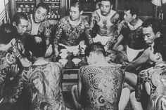 Japanese Gangster: Vintage Photos of Yakuza With Their Full Body Suit Tattoos ~ vintage everyday