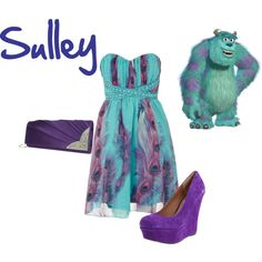 """Sulley - Monsters Inc"" by disney-inspired-outfits on Polyvore"