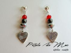 Petale de Mac Mac, Drop Earrings, Personalized Items, Handmade, Jewelry, Jewellery Making, Hand Made, Jewels, Jewlery
