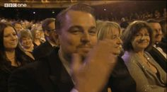 When Leonardo DiCaprio blew a kiss to the camera and melted hearts everywhere. | The 20 Best Moments Of The 2014 BAFTA Awards