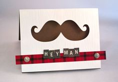 The Paper Intervention: Mustache March and Manly Cards