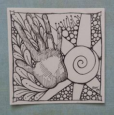 Twisted Line drawing for the Ash Wednesday. The first of my #zentangle inspired #drawings for #Lent . Read more....