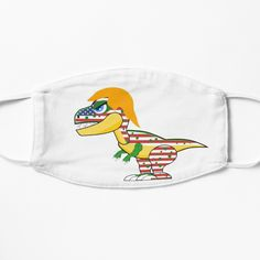 dinosaur with the American flag. Cute mask in the season of election. Check link for other products