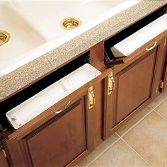Buy the Rev-A-Shelf White Direct. Shop for the Rev-A-Shelf White 6572 Series 11 Inch Wide Sink Front Tip Out Two Tray Set and save. Kitchen Tray, Kitchen Cabinet Organization, Storage Cabinets, Kitchen Storage, Kitchen Ideas, Kitchen Drawers, Kitchen Redo, Bathroom Storage, Wolf Kitchen