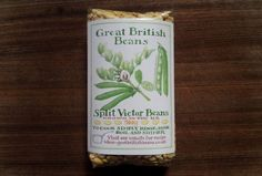"Great British Beans split dried ""Victor"" variety fava beans"