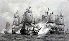 Batalla del Cabo de San Vicente (Portugal, 14 de Febrero 1797). El HMS Captain (Nelson) ataca al barco español Santísima Trinidad. Más en www.elgrancapitan.org/foro