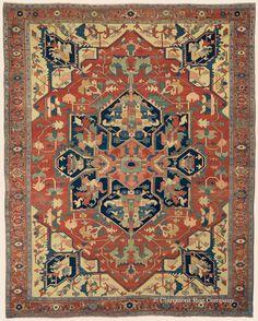 "SERAPI, 10' 3"" x 12' 10"" — Circa 1850, Northwest Persian Antique Rug - Claremont Rug Company"