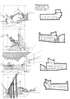Aalto Sketches Conceptual Architecture, Architecture Concept Drawings, Architecture Sketchbook, Architecture Details, Floor Plan Sketch, Unique Drawings, Layout, Planer, Modern