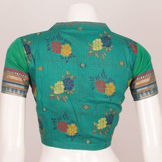 Hand Block Printed Cotton Blouse With Collar Neck 10036911 - Size 38 Birthday Greetings For Daughter, Collar Blouse, Blouse Online, Cotton Blouses, Blouse Designs, Printed Cotton, Christmas Sweaters, Sewing Patterns, India