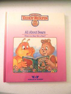 1985 The World of Teddy Ruxpin All About Bears When is a Bear Not a Bear? World #TeddyRuxpin