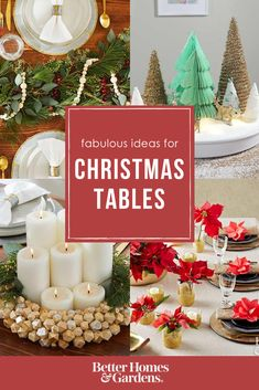 each christmas table is packed with easy inexpensive decorating ideas for christmas - Best Christmas Decorating Ideas