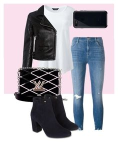 """""""girly girl time"""" by lana-fo on Polyvore featuring J Brand, Lands' End, IRO, Louis Vuitton, Monsoon and Belkin"""