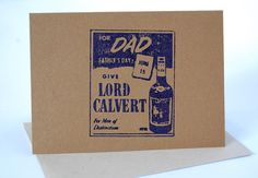 Give Lord Calvert Vintage Type Letterpress Card for Father's Day by LionOfBali