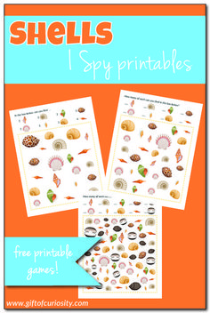 FREE printable Shells I Spy game with three levels of difficulty Science Activities For Kids, Summer Activities, Preschool Activities, Free Preschool, Preschool Printables, Free Printables, Creative Thinking, Creative Kids, Free Childrens Games