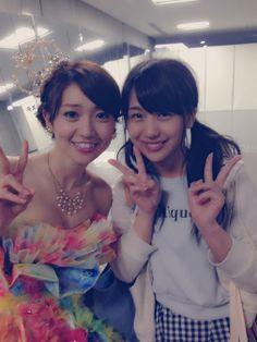 篠崎彩奈  こんばんわ♡(o^^o)  昨日はたくさんのコメントありがとうございました♡ 嬉しかったです!  今日は優子さんの卒業コンサートでした! 本当に本当に偉大ですごい方だな って改めて思いました。  メンバーさんとしてはもちろん、 人として尊敬しています^ ^!!  優子さんにどんどん綺麗になるね。 って言われてすごく嬉しかったです!  優子さんはこんなわたしにも話しかけてくださって、本当に優しくて素敵な先輩です。  これからもずっとずっと尊敬しています!  またいつかどこかで会えたらいいな。 そのために、わたしも成長しなくちゃ!!  写真とっていただきました!^ ^
