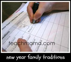 new year family traditions--family interviews
