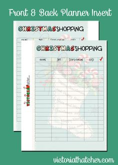 Christmas Planner Inserts for the large HP