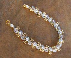 Pretty Beaded Bracelet. Pattern.