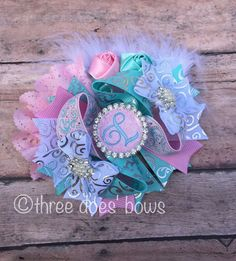 Mini OTT with Initial - OTT Bows - Over the top bows- OTT Hair Bows -Easter…