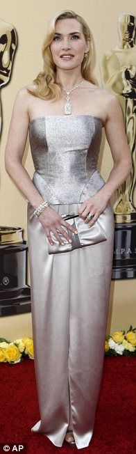 Kate Winslet in Yves Saint Laurent gown and Tiffany jewels at the 2010 Oscars, March 2010