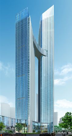 ASE Center Tower, Chongqing, China by Dennis Lau & Ng Chun Man Architects & Engineers :: 96 floors, heigth Romanesque Architecture, Cultural Architecture, Sacred Architecture, Classic Architecture, Commercial Architecture, Futuristic Architecture, Residential Architecture, Amazing Architecture, Contemporary Architecture