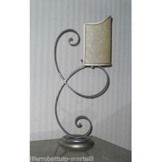 Wrought Iron Abat Jour Lamp. Customize Realizations. 715 Italian Style, Wrought Iron, Candle Sconces, Wall Lights, Candles, Home Decor, Appliques, Decoration Home, Room Decor