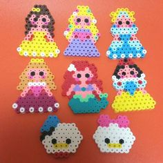Disney Princess perler beads by tomoka_0505