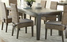Shop for Abington Rustic Industrial Grey/Beige/Brown Mahogany Dining Set. Get free delivery at Overstock - Your Online Furniture Shop! Get in rewards with Club O! Black Dining Room Furniture, Bar Furniture, Furniture Deals, Modern Furniture, Online Furniture, Breakfast Nook Dining Set, Dining Room Bar, Dining Chairs, Dining Table Dimensions