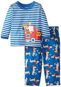 Little Me Baby Boys Rescue Dog 2 Pieces Pajamas Blue Print 18 Months -- Be sure to check out this awesome product.