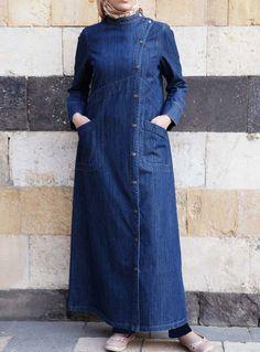 Islamic Clothing for Men, Women and Accessories by SHUKR International Pakistani Fashion Casual, Abaya Fashion, Muslim Fashion, Bollywood Fashion, Denim Fashion, Denim Abaya, Hijab Jeans, Hijab Outfit, Hijab Dress