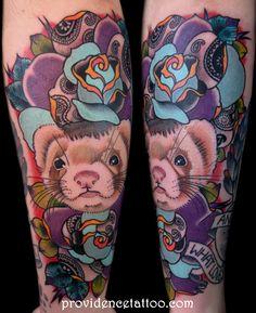 ferret tattoo #ferret #pet #cute #tattoo