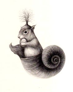 A squirrel in the city by Dalia Del Bue, via Behance