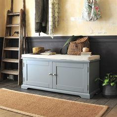 Cushion for shoe bench with doors image shoe storage bench with doors, shoe storage cupboard Shoe Storage Grey, Shoe Storage Living Room, Hallway Shoe Storage Bench, Shoe Storage Cupboard, Shoe Bench, Cupboard Design, Bench Storage, Storage Ideas, Hall Bench