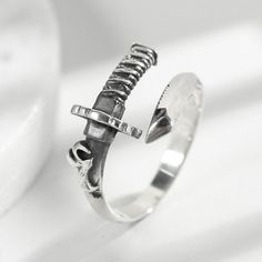 Twist Design Small Size 925 Sterling Silver Adjustable Ring