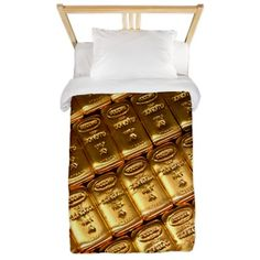 Russian gold bullion Twin Duvet on CafePress.com