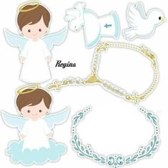 Cute Little Angel Free Printable Cake Toppers for First Communion. Here you have some Free Printable Cake Toppers for your Litt. Baby Shower Photo Booth, Baby Shower Photos, Baby Boy Shower, Baby Boy Baptism, Baptism Party, Angel Theme, Baptism Decorations, Harry Potter Cake, Book Cakes