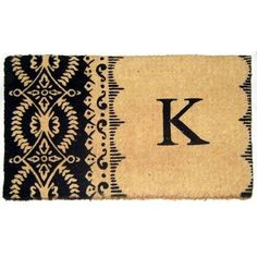 "Geo Crafts Imperial Heirloom Monogrammed Doormat Rug Size: 1'6"" x 2'6"", Letter: B"