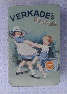 Vintage Verkade blik Made in Holland