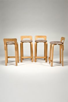 the modern archive - High Chair K65 (set of 4) by Alvar Aalto