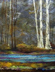 'In The Woods' Lovely landscape quilt