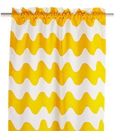 Yellow or grey. From Hobby Hall, Finland. Panel Curtains, Curtain Panels, Marimekko, Grey And White, Black, Cool Designs, Interior Decorating, Finland, Yellow