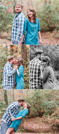 A Fall Campbell's Covered Bridge Engagement Session in Landrum South Carolina
