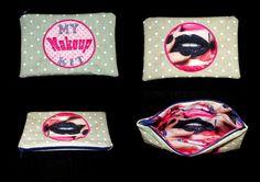 petite pochette ou trousse de sac zippée personnalisable de la boutique babanou84 sur Etsy