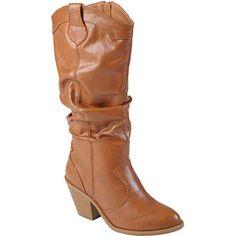 Brinley Co Women's High Heel Slouchy Boots