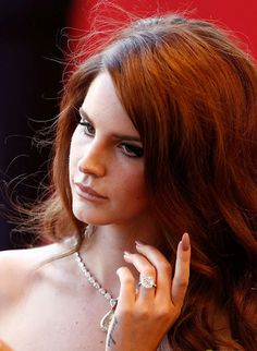 Beautiful auburn shades of red hair. Lana Del Rey